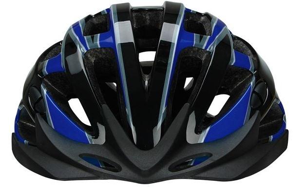 Avento Fietshelm senior unisex zwart blauw maat 58/61 cm