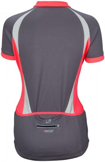 Avento Fietsshirt korte mouw dames antraciet/roze/grijs maat XL