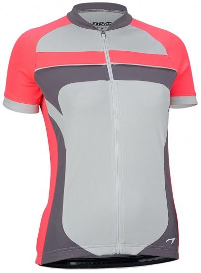 Avento Fietsshirt korte mouw dames grijs/roze/antraciet maat XL