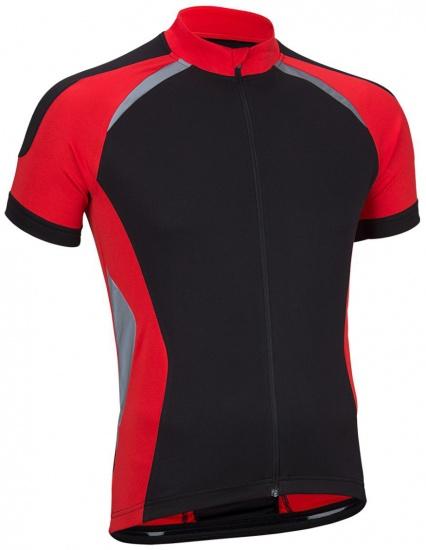Avento Fietsshirt korte mouw heren zwart/rood/zilver maat M