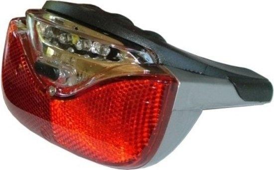 AXA achterlicht Gazelle Powervision led batterijen grijs/zwart