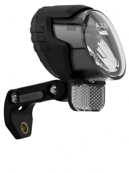 axa luxx 70 plus koplamp an auto uit led dynamo zwart. Black Bedroom Furniture Sets. Home Design Ideas