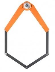 AXA Vouwslot Toucan 6 schakels 1200 x 8 mm oranje