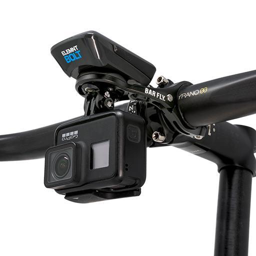 Bar Fly fietshouder GoPro Base aluminium zwart 9 delig