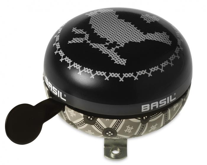 Basil fietsbel Boheme zwart 80 mm Onderdelen & Accessoires Zwart Fietsbellen Ding Dong Voor 16:00 uur besteld, dezelfde dag verzonden