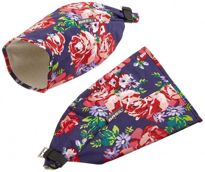 Basil handwarmers Blossom Roses donkerblauw