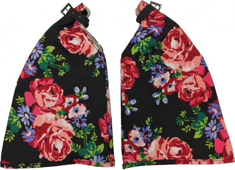 Basil Roses handwarmers set zwart/rood (50342)