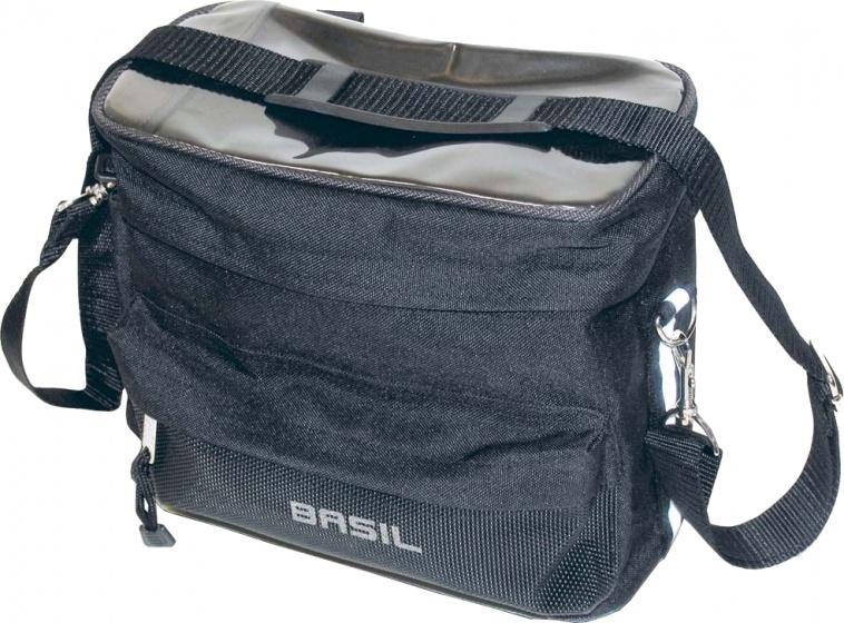 Basil stuurtas Mali met kaartvenster 8 liter zwart 26x23x13 cm