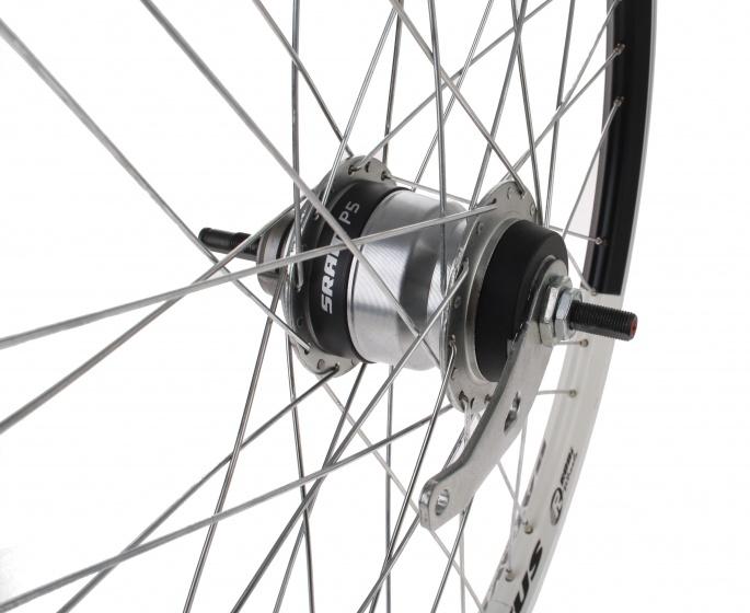 Batavus achterwiel 24 inch terugtraprem 36G staal zwart/wit