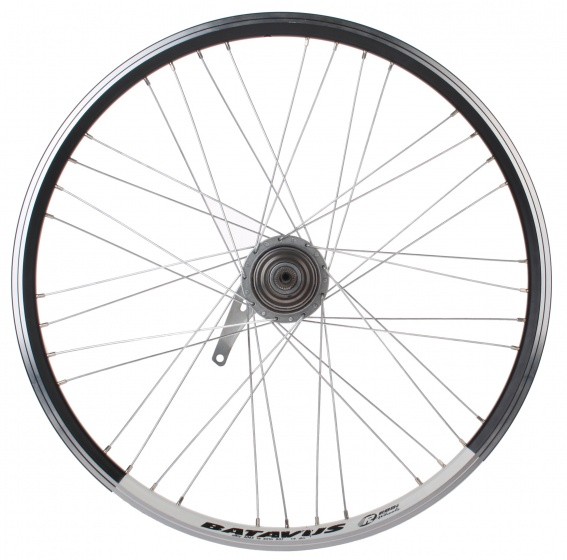 Batavus achterwiel 24 inch terugtraprem staal 36G zwart/wit