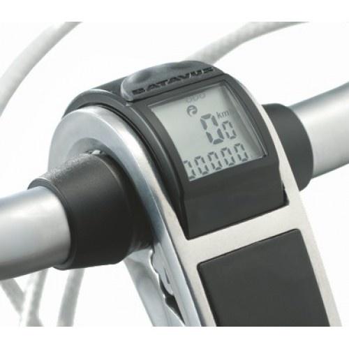 Batavus fietscomputer inbouw draadloos Trelock zwart