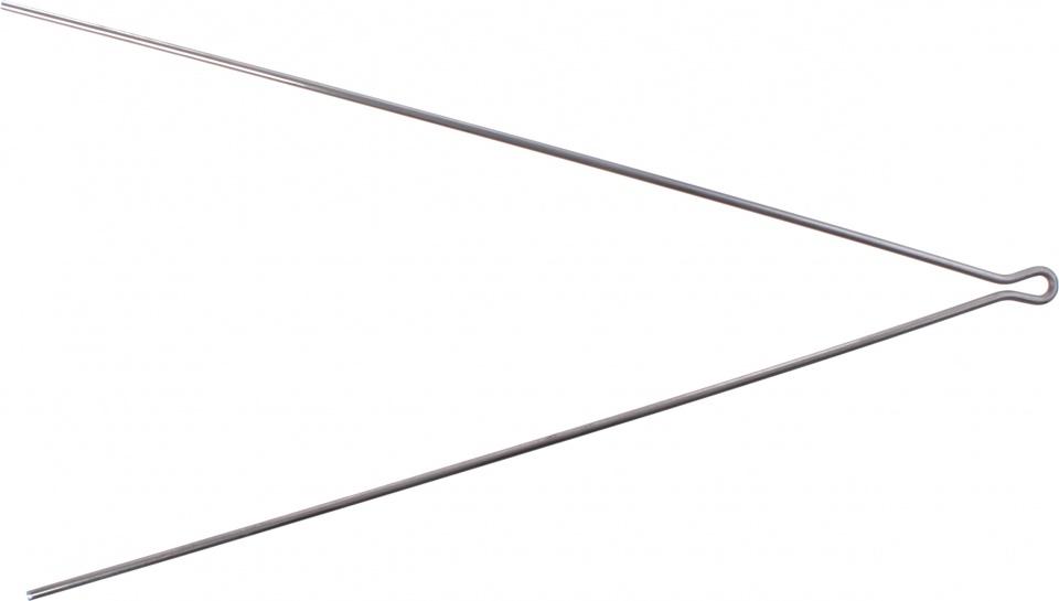 Batavus spatbordstang 28 inch staal zilver per stuk