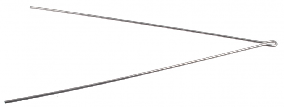 Batavus spatbordstang draad staal 28 inch zilver per stuk