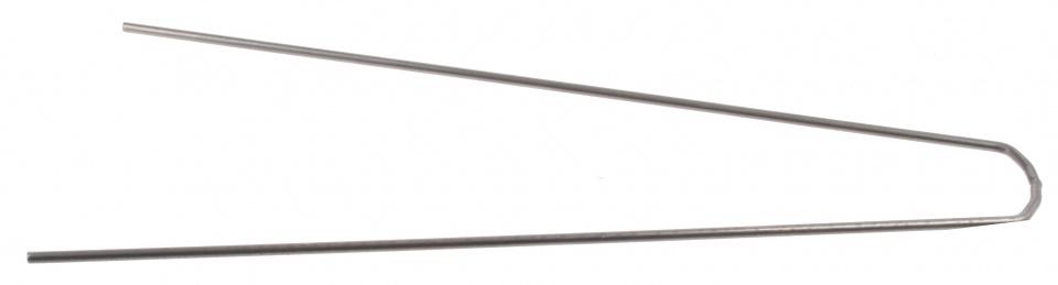 Batavus spatbordstang RVS recht 28 inch (35 cm) zilver