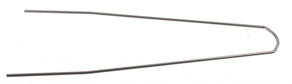 Batavus spatbordstang RVS gebogen 28 inch (55 mm) zilver