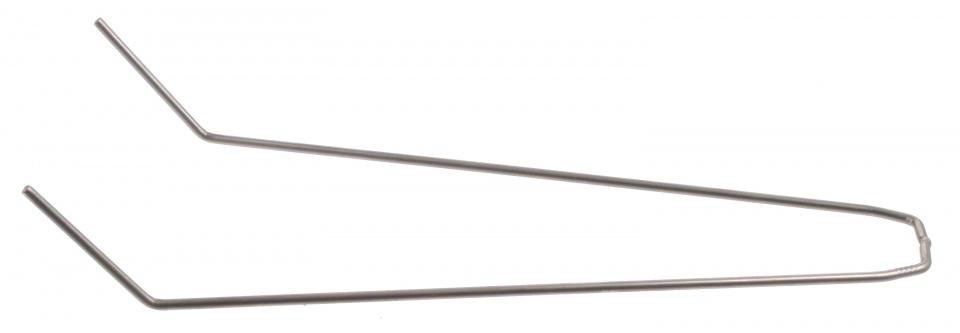 Batavus spatbordstang staal gebogen 26 inch zilver per stuk