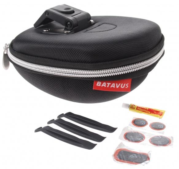 Batavus zadeltas met inhoud Klick 1,3 liter zwart