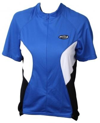 BBB Fietsshirt Ultratrech dames blauw/wit/zwart maat M