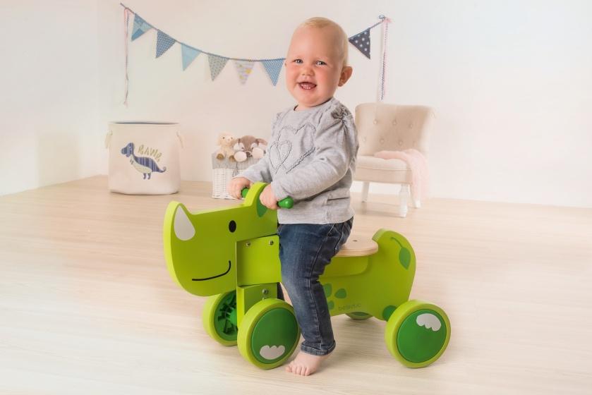 beleduc houten loopfiets Speedy Rhino Junior Groen