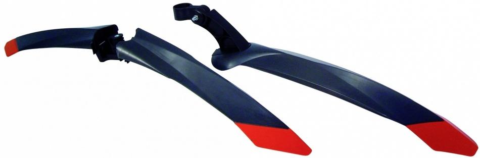 Bellelli Spatbord Set Zip Kunststof 26 Inch Zwart Rood