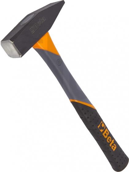 Beta hamer met kunststof steel 30 cm 300 gram zwart/oranje