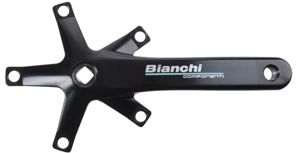 Bianchi crankstel 175 mm zwart