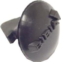 Bibia bevestigingsknop voor snelbinder 19 mm zwart per stuk