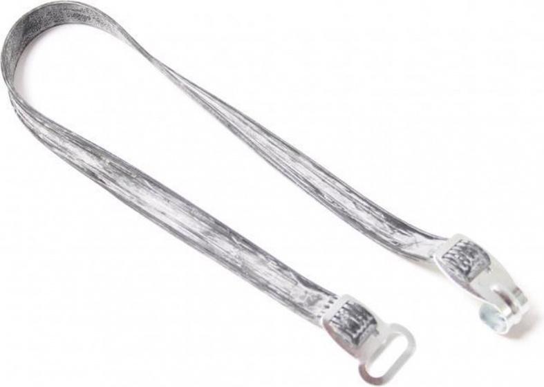 Bibia snelbinder Camping haak/oog rubber zilver/wit
