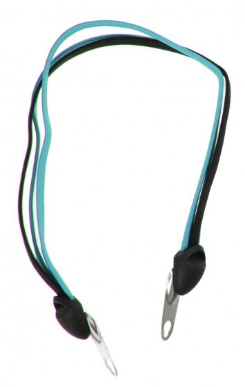 Bibia snelbinder City Triobinder 62 cm lichtblauw/zwart