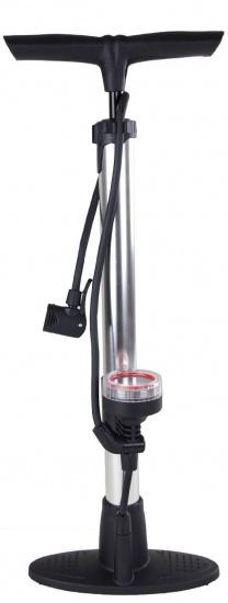 Bicycle Gear vloerpomp Voet zilver/zwart