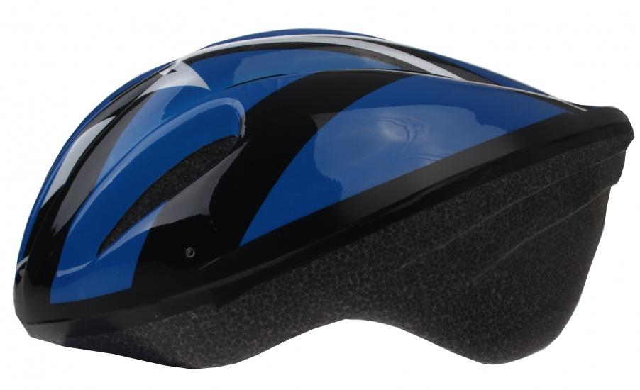 Bicycle Gear fietshelm volwassen maat 58/61 cm blauw/zwart