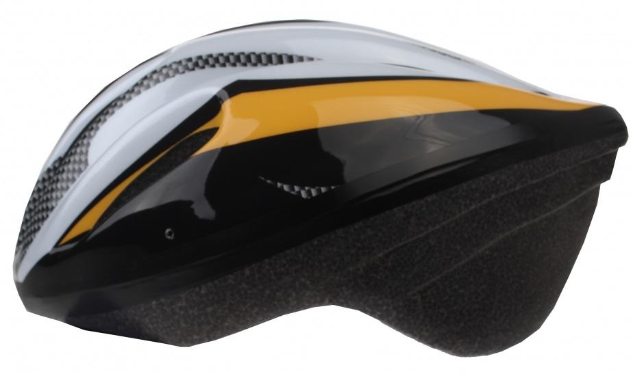 Bicycle Gear fietshelm volwassen maat 56/58 cm geel/grijs