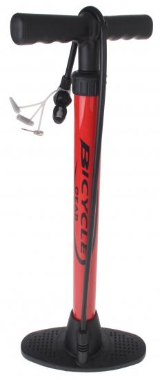 Bicycle Gear vloerpomp met Adapters Rood