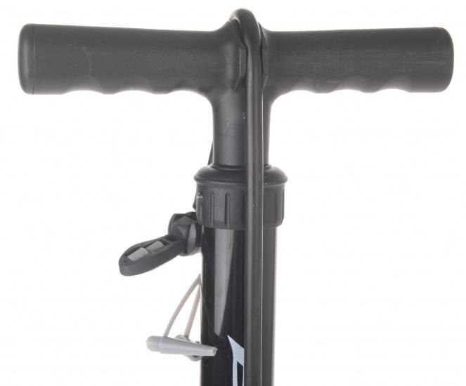 Bicycle Gear vloerpomp met Adapters Zwart
