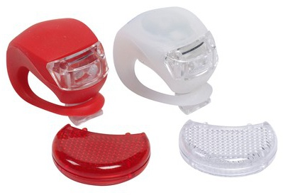 Bicycle Gear Fietsverlichting en Reflector set LED Rood / Wit