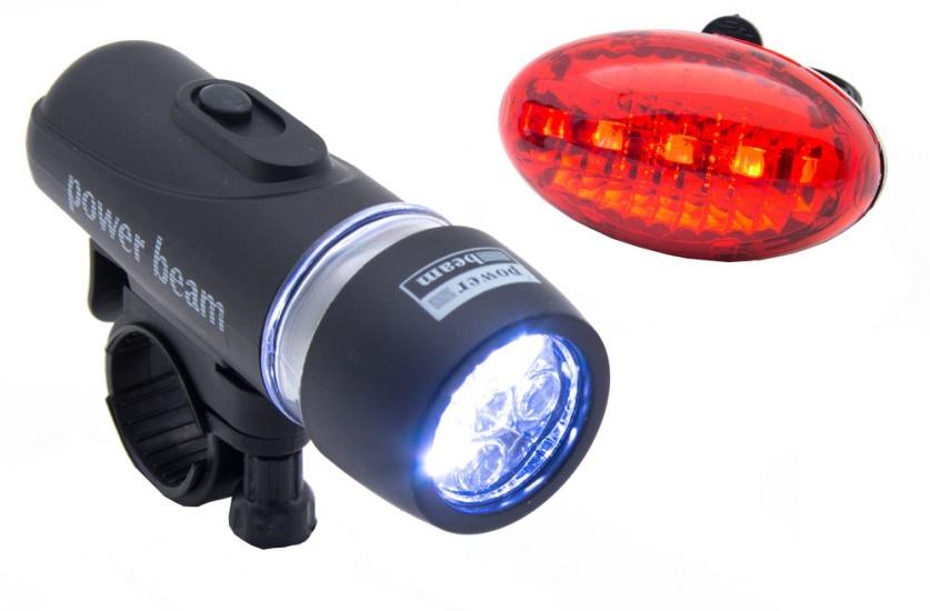 Bicycle Gear Fietsverlichting set 5 LED zwart