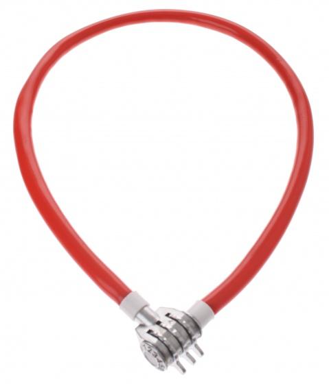 Bicycle Gear Kabelslot cijferslot 650 x 20 mm rood