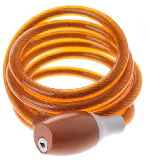Bicycle Gear Kabelslot spiraal 1800 x 10 mm oranje