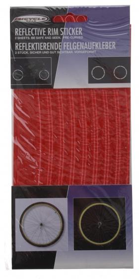 Bicycle Gear reflecterende stickers rood 16 stuks