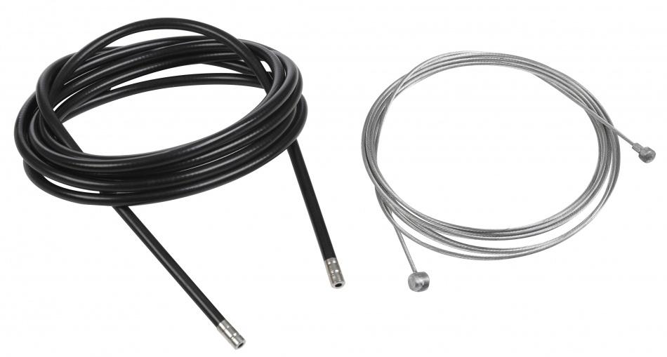 Bicycle Gear remkabel set trommelrem 1750/2250 x 1,6/5 mm zwart