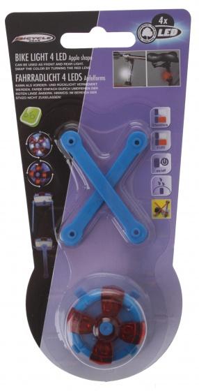 Bicycle Gear voor/achterlicht blauw 3 cm