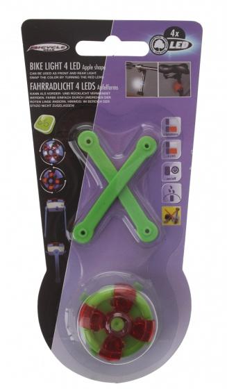 Bicycle Gear voor/achterlicht groen 3 cm