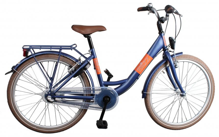 Bike Fun Blizz 26 Inch 43 cm Meisjes 3V V Brakes Matblauw