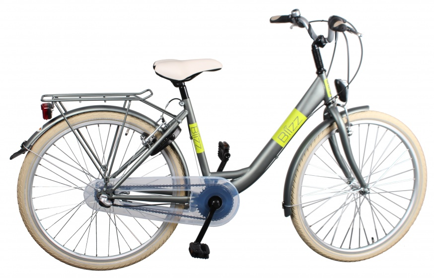 Bike Fun Blizz 26 Inch 43 cm Meisjes 3V V Brake Mat Groen