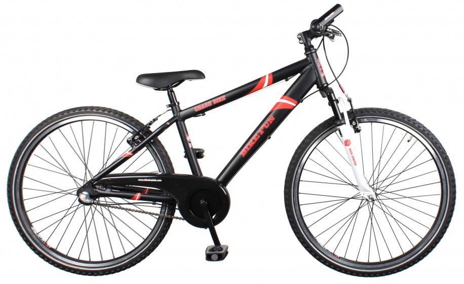 Bike Fun Crash 26 Inch 39 cm Jongens 3V Terugtraprem Zwart