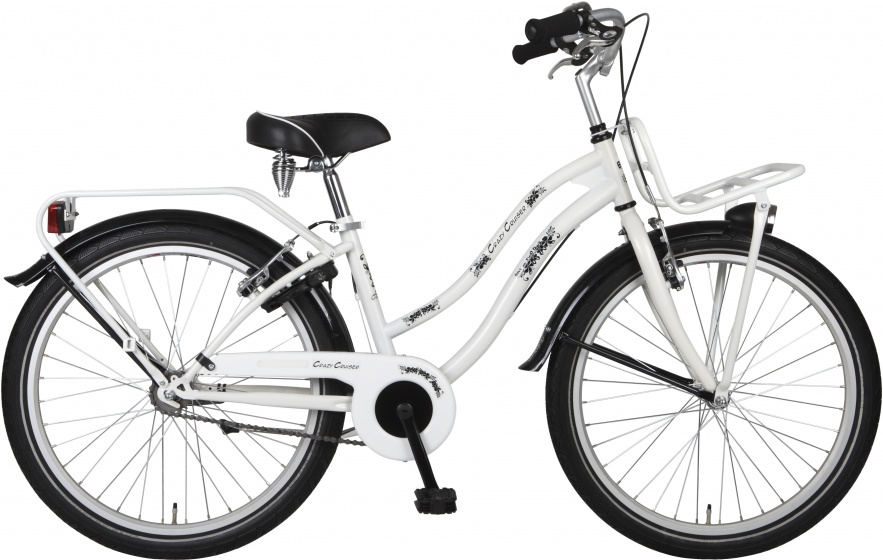 Bike Fun Crazy Cruiser 20 Inch 36 cm Meisjes Terugtraprem Wit