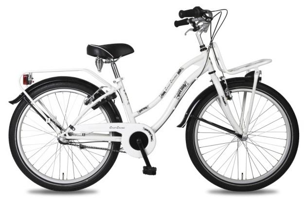 Bike Fun Crazy Cruiser 24 Inch 36 cm Meisjes 3V V Brake Wit