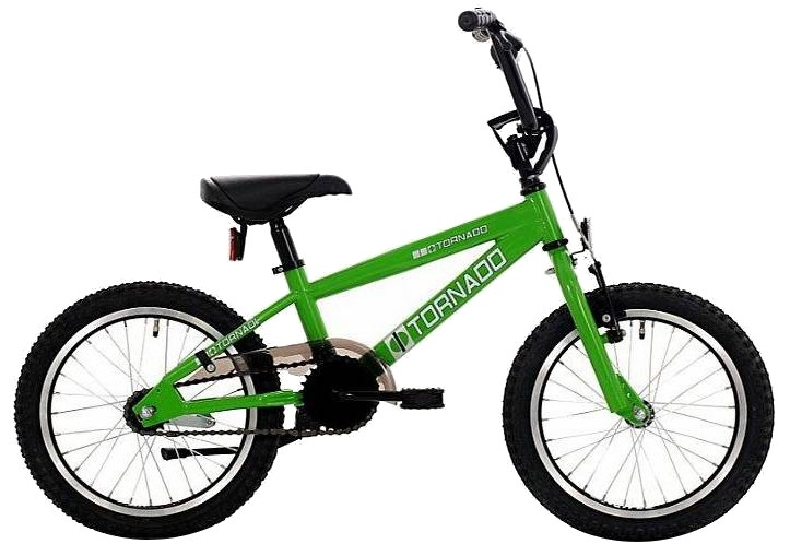 Bike Fun Cross Tornado 16 Inch 34 cm Junior Terugtraprem Groen