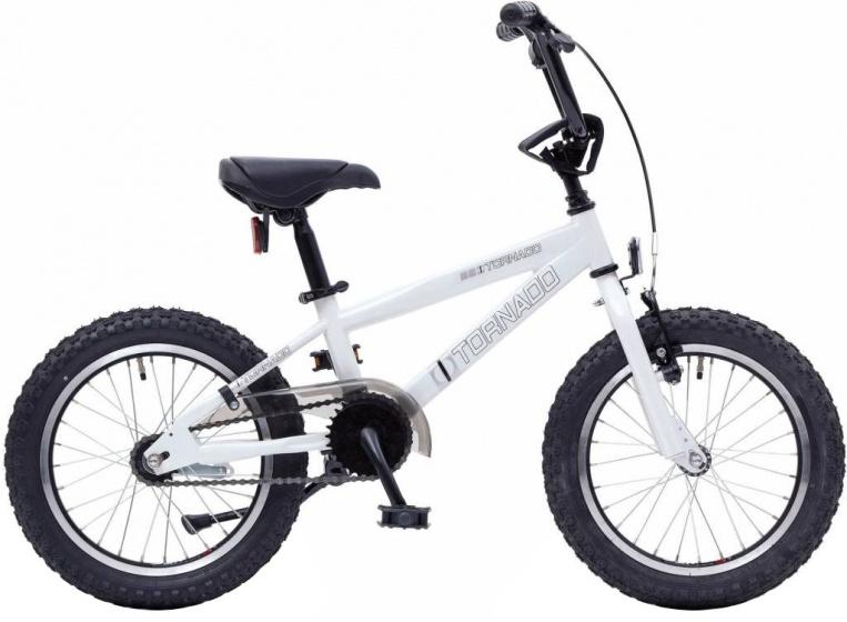 Bike Fun Cross Tornado 16 Inch 34 cm Junior Terugtraprem Wit