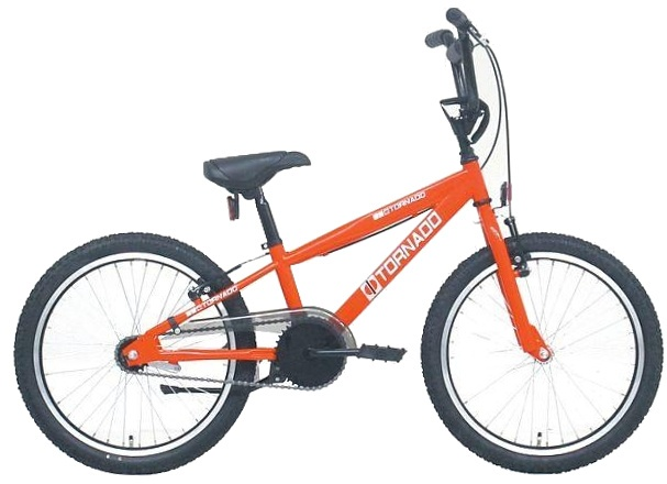 Bike Fun - Cross Tornado 20 Inch 40 Cm Junior Terugtraprem Rood